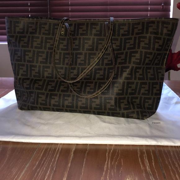 d5a8f634a3eb Fendi Handbags - Fendi Zucca Spalmati  roll  Shopper Tote